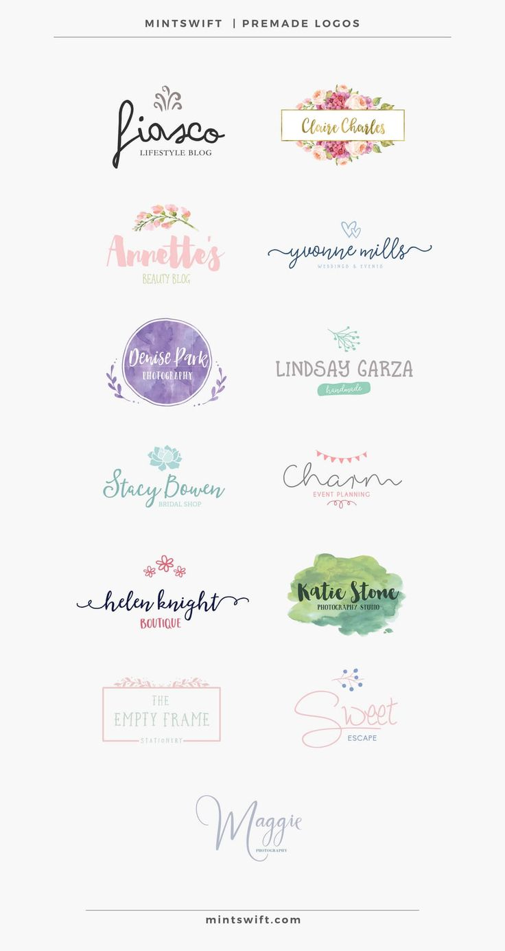 MintSwift Premade Logos | MintSwift Shop | Premade branding | Branding on budget… More