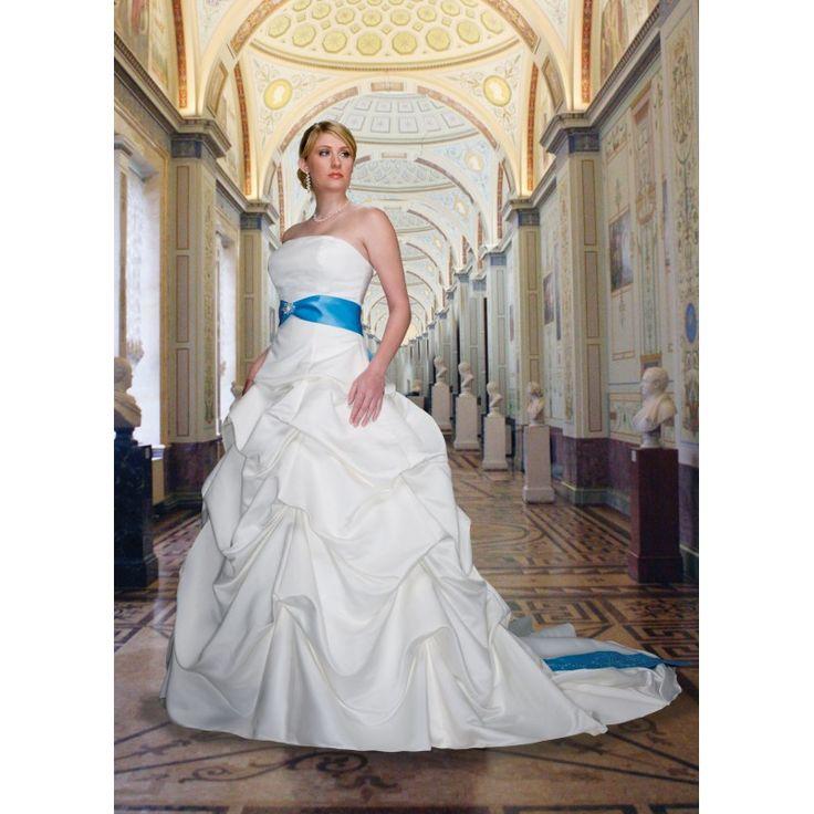 21 best images about top 50 wedding dresses on pinterest for Royal blue plus size wedding dresses
