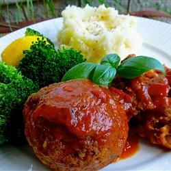 Cheese-Stuffed Mini Meat Loaves Recipe — Dishmaps