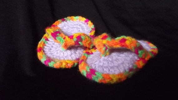 Baby Flip Flop Crochet by SabinesCountryShop on Etsy, $12.50