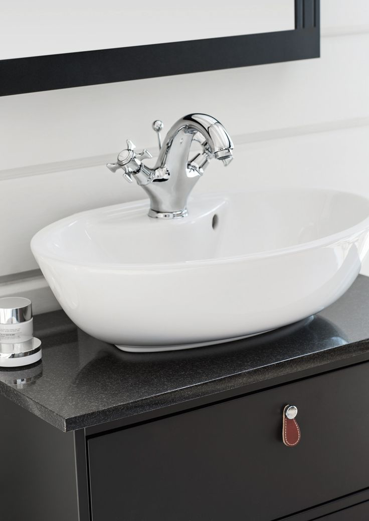 SVEA vanity unit. SVEA granite work top ebony black.