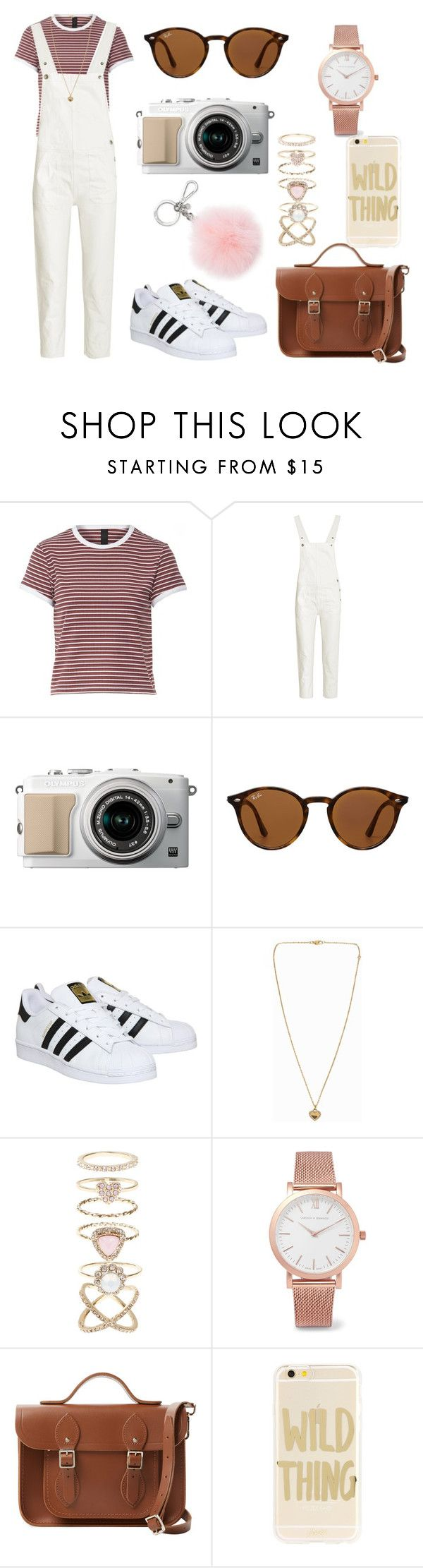 """Untitled #308"" by charlotte-down on Polyvore featuring M.i.h Jeans, Ray-Ban, adidas, Michael Kors, Accessorize, Larsson & Jennings, The Cambridge Satchel Company and Sonix"