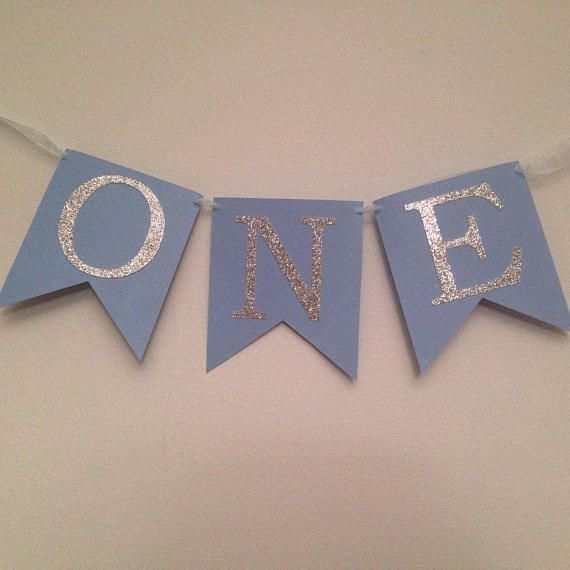 ONE Pink High Chair Banner You CHOOSE COLORS First Birthday