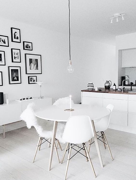 Is To Me | Interior inspiration | White dining space