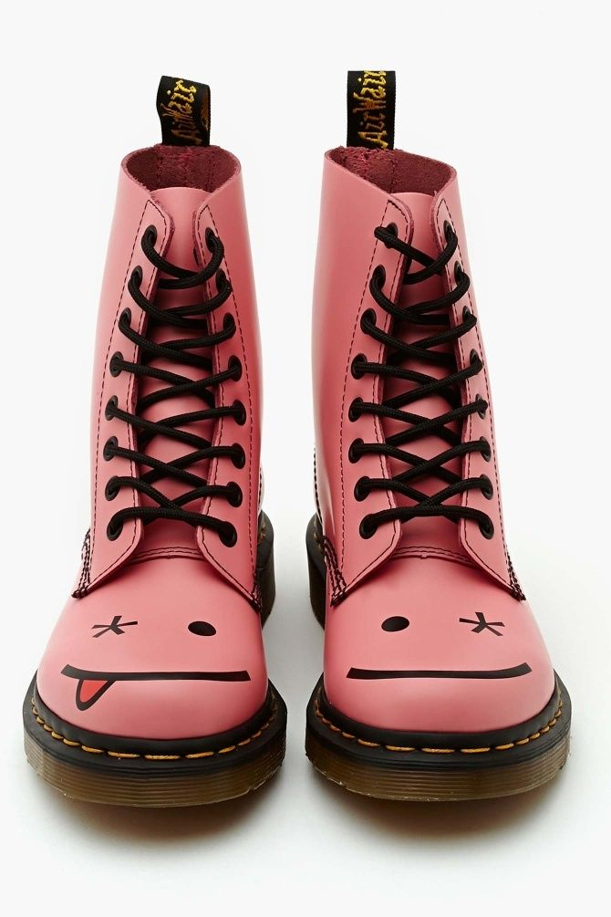 a885921cf9 Hi Cut Pink | Must Have Booties/Boots | Shoes, Shoe boots, Dr martens