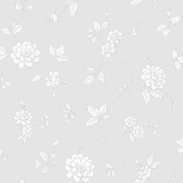 Pretty grey floral wallpaper. Vintage Rose Collection by Galerie - G45024