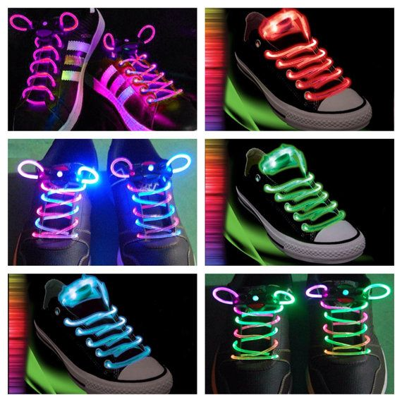 Light-Up,FREE GIFT, Led,Rave Laces for EDC,Ultra,Electric Daisy Festival , Rave Accessory, (2) Free Kandi Bead Bracelets W/  Purchase!!!! on Etsy, $7.99