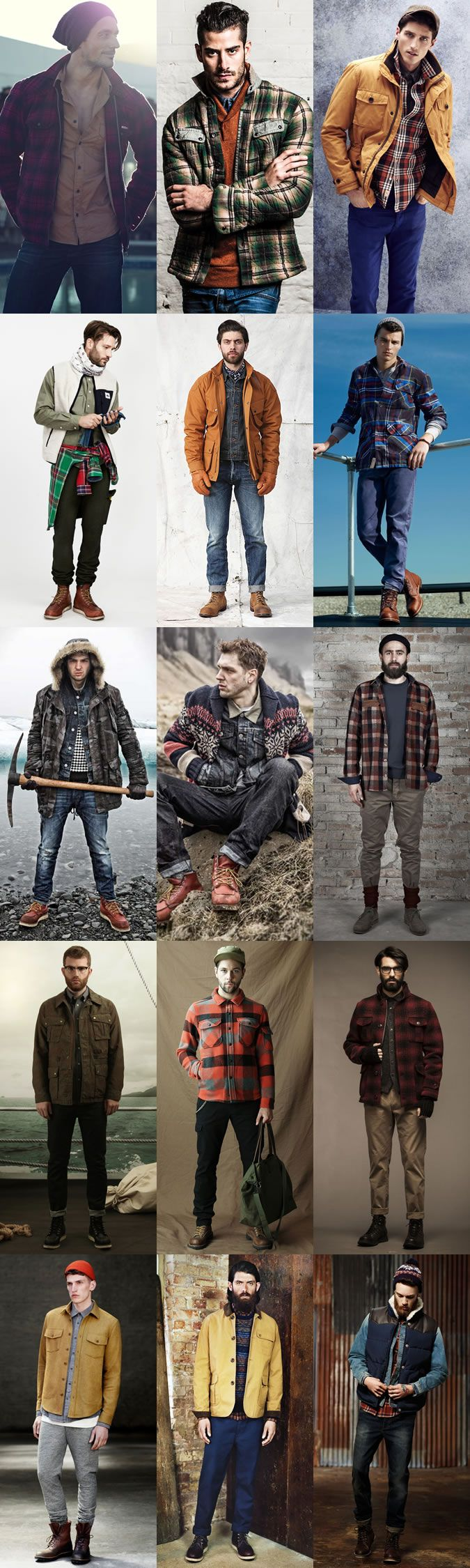 Men's Hunter Gather Style/Outfit Inspiration Lookbook                                                                                                                                                                                 More