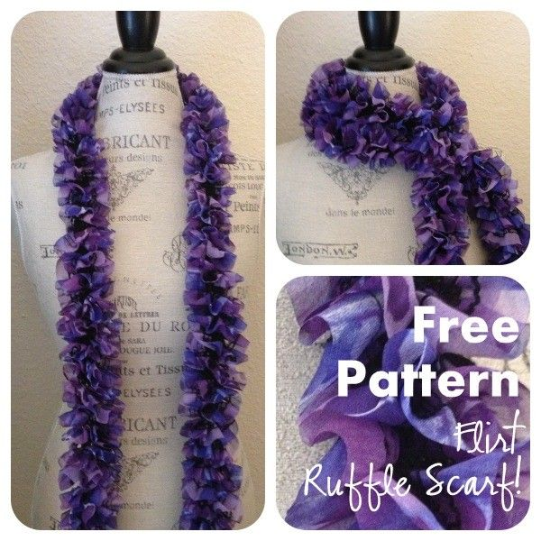 Knit Ruffle Scarf Pattern Starbella : 206 best images about Love those scarves on Pinterest Red hearts, Braided s...
