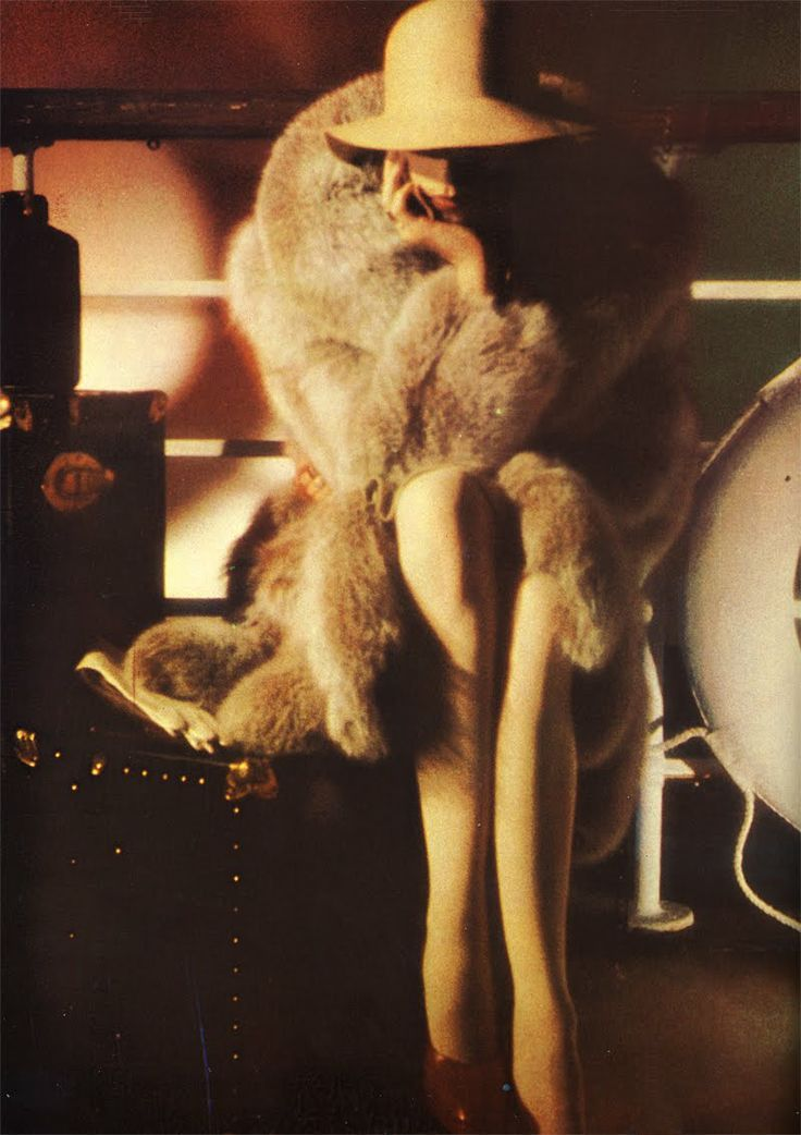 Anjelica Huston photographed by David Bailey for Vogue UK, October 1973 | vintage fashion photography
