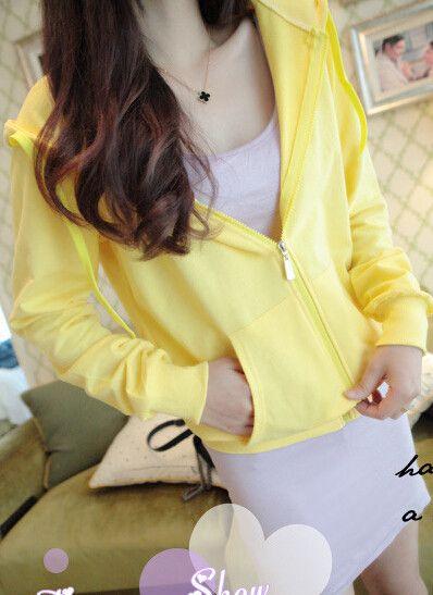 Korean sweatshirt lady thin hoodies Jackets women leisure zip up hooded tracksuit Zipper Outerwear student coat outwear Tops XXL