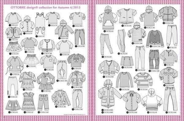 Ottobre kid's fall 2013 pattern magazine | Sewing patterns