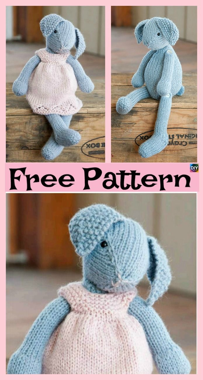 8 Knitted Adorable Bunny Free Patterns Debbie Czoka