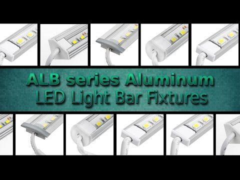 Aluminum LED Light Bar Fixture - Flush Mount | Aluminum Light Bar Fixtures | Rigid LED Linear Light Bars | LED Strip Lights & LED Bars | Super Bright LEDs