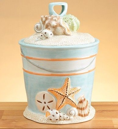 Beach style cookie jar