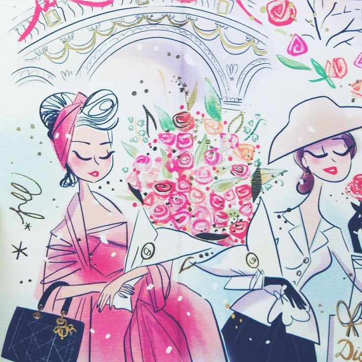 Calendrier de l'Avent Dior 2016 illustré par Magalie F.