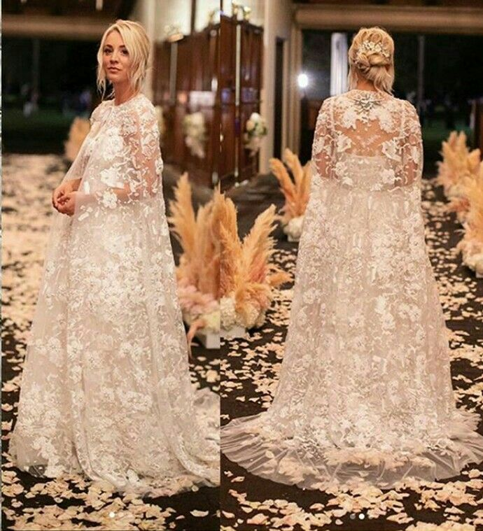 Kaley Cuoco Wedding Dresses Wedding Dresses Lace Charming Dress