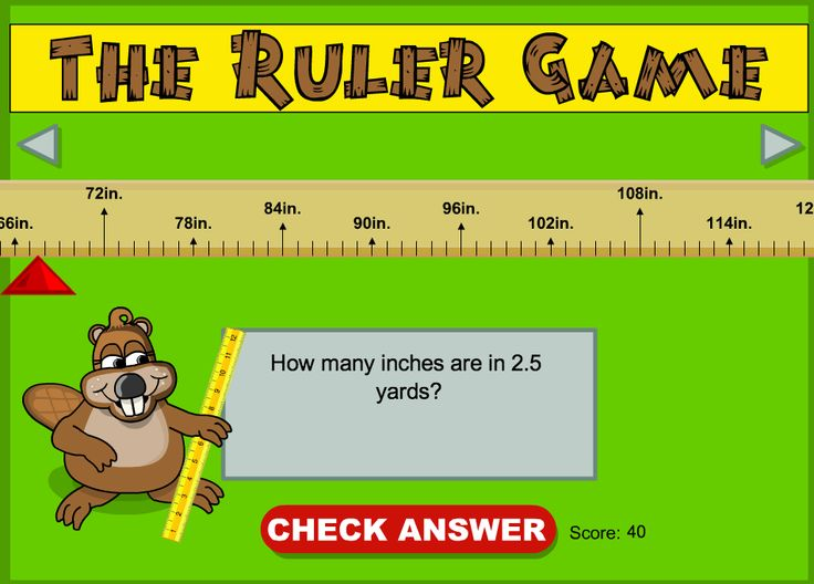 Interactive measurement game - inches, feet, and yards