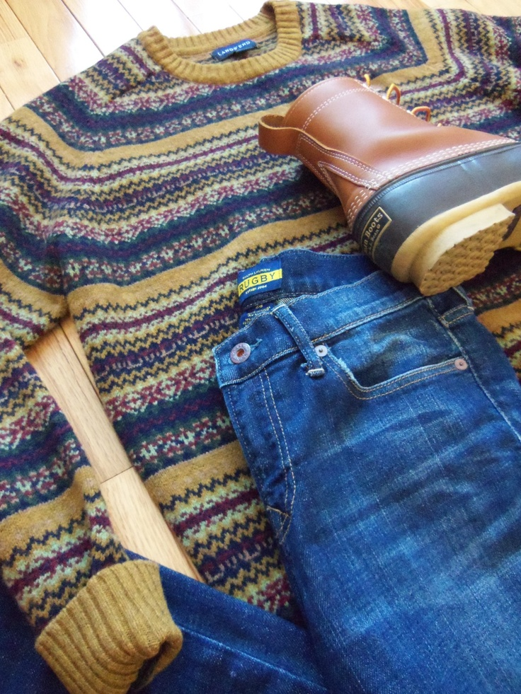 OOTDSweater: Land's End  Jeans: Rugby Ralph Lauren   Boots:L.L. Bean Boots