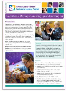 NQS PLP e-Newsletter No.70 - 'Transitions: Moving in, moving up and moving on' by Anne Kennedy http://wp.me/p2wNWe-15f