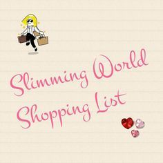 The ultimate, printable generic slimming world shopping list — Slimming World…