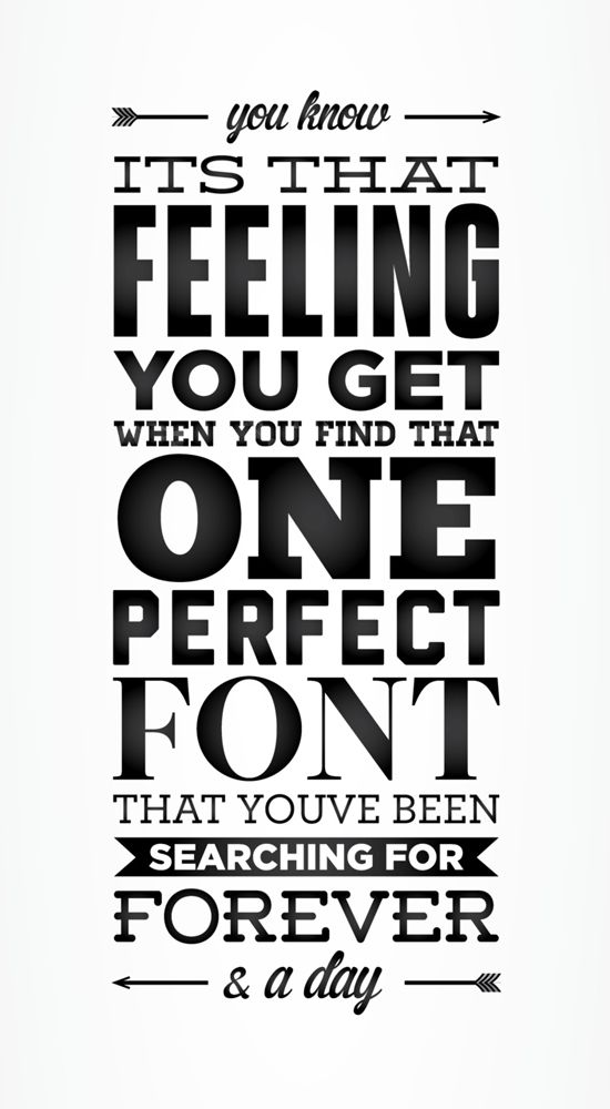 Perfect Font Typography Poster #typography #design #inspiration