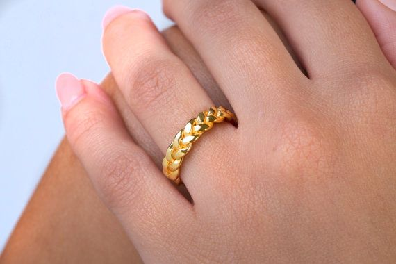Set braided rings  Solid gold ring  Twisted by elegantjewelbox
