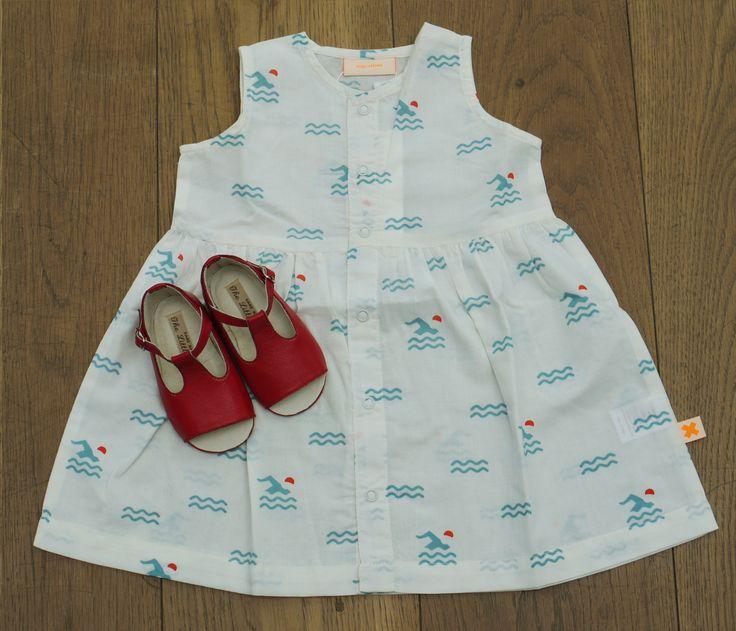 Swim area dress, £31 BubbleChops Exclusive Bobby Shoes, £60
