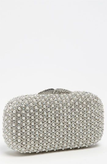 Silver Embroidered Clutch by Natasha Couture. Buy for $298 from Nordstrom