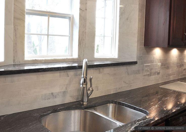 inexpensive backsplashes for kitchens glass tile kitchen backsplash black countertop ideas - backsplash.com ...