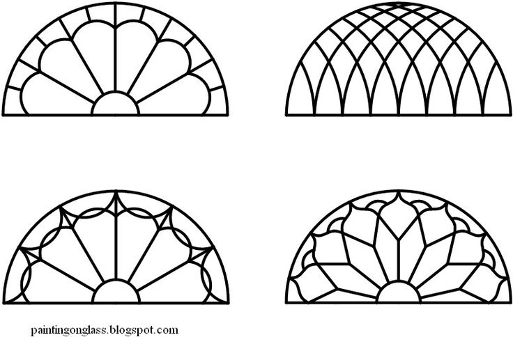 Stained Glass Transom Pattern half circle (With images