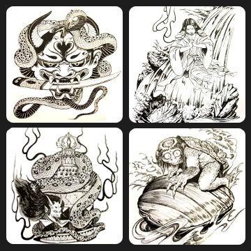 JAPANESE Tattoo Flash Book by Horimouja - Artist Flash Books - Tattoo Books & DVDS - Worldwide Tattoo Supply