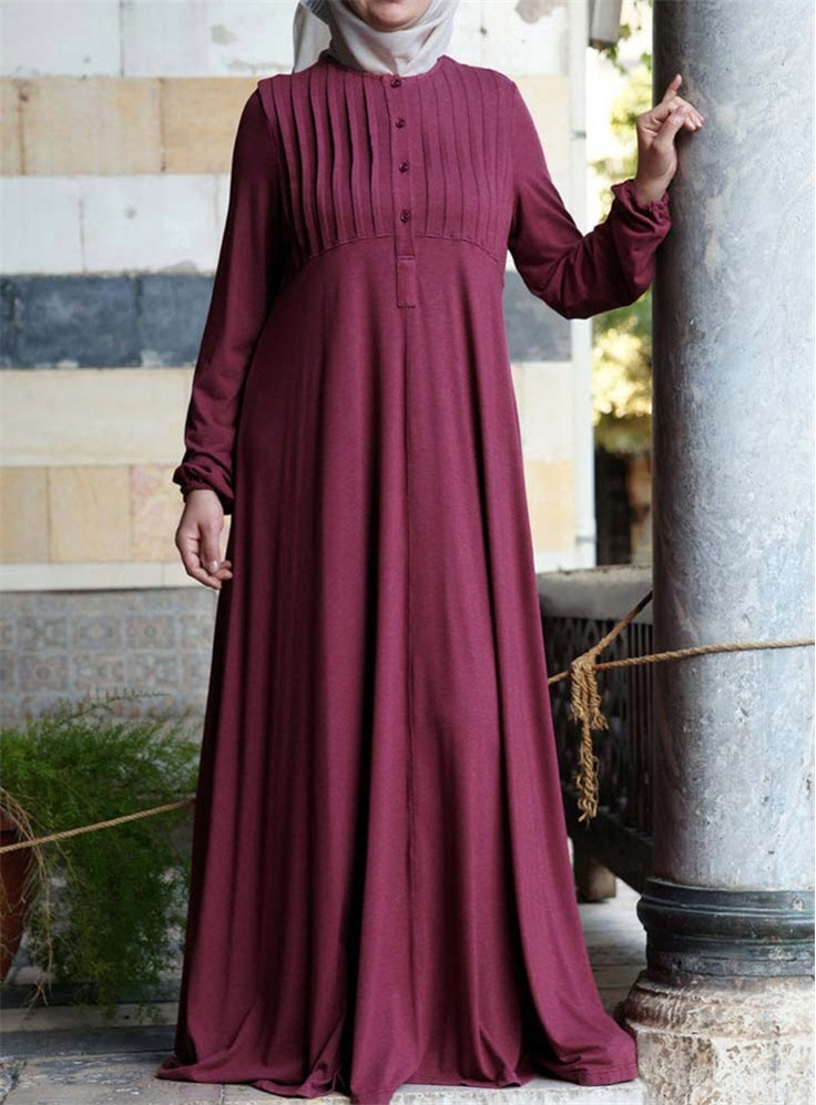 Abaya with Tucks    Soft and serene, this is the abaya you won't want to take…