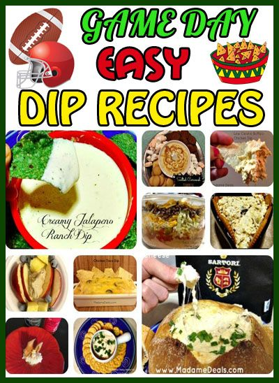 Game Day Easy Dip Recipes