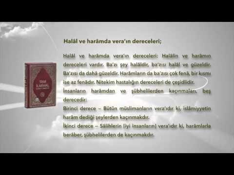 HALAL VE HARAMDA VERA'IN DERECELERİ