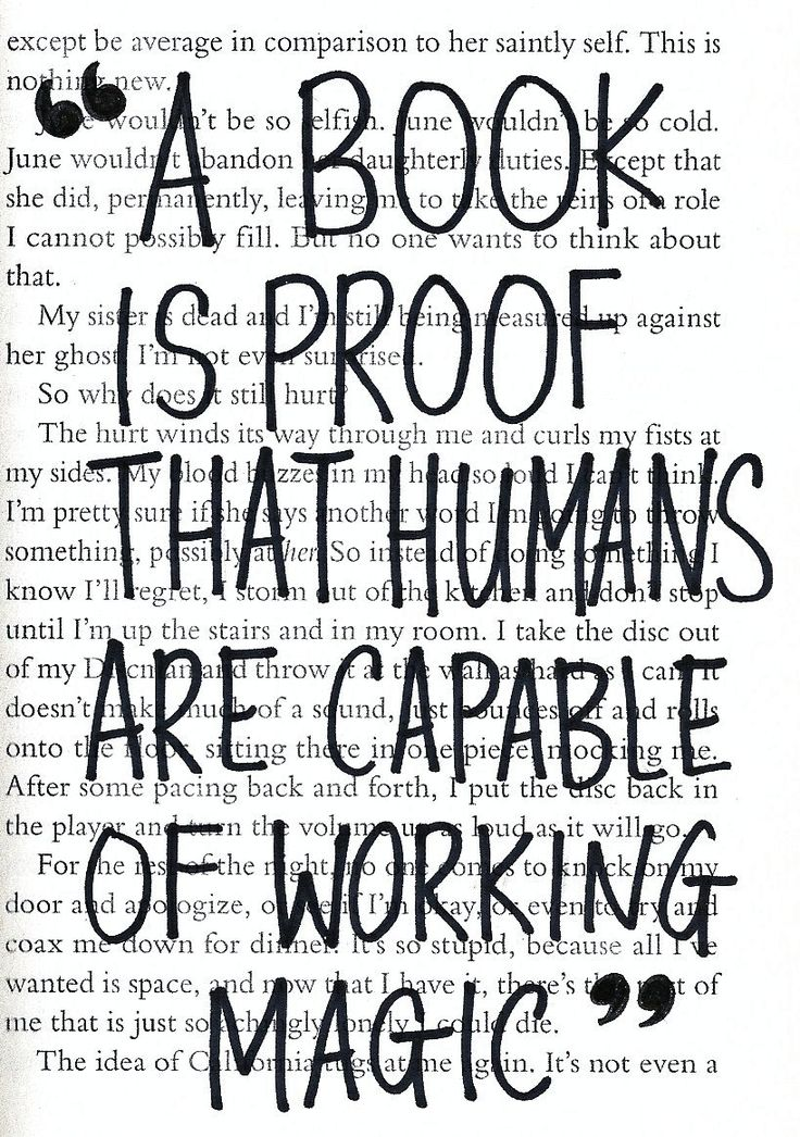 """A book is proof that humans are capable of working magic."" - Carl Sagan"