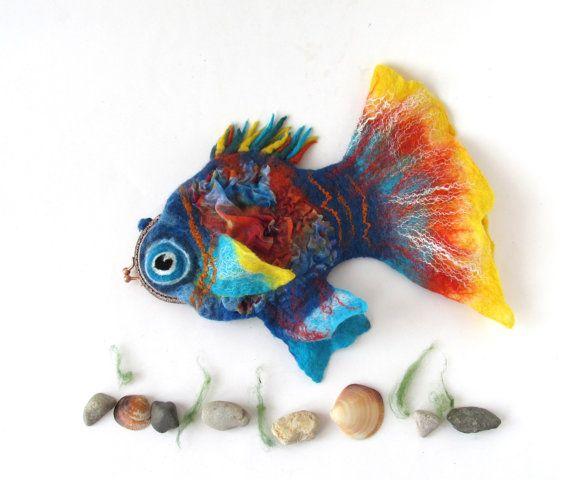 Fühlte mich Fisch Geldbörse Kosmetik Tasche Filz von galafilc