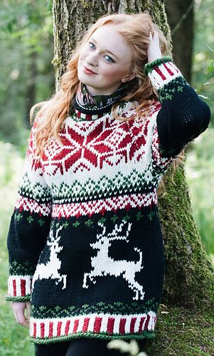 Lofty christmas jumper pattern by Jacinta Bowie