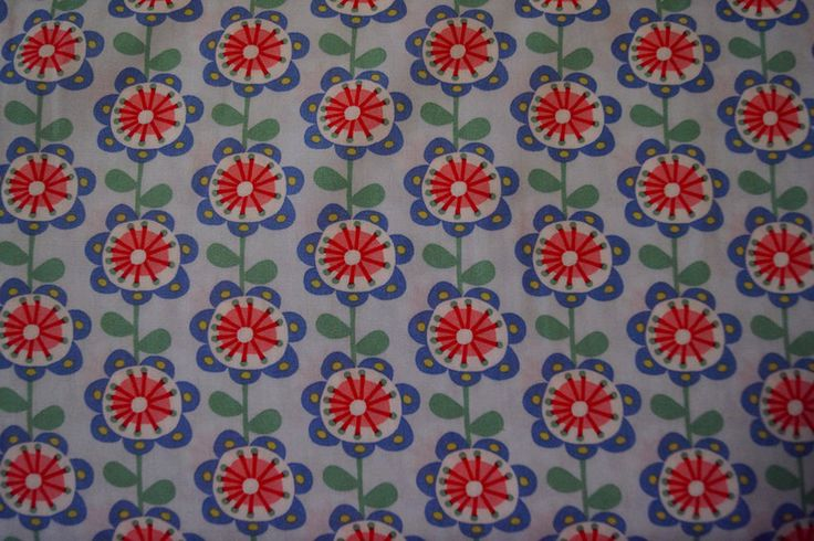 Katoen bloemen blauw  Korte broek meisje