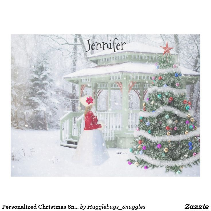 Personalized Christmas Snow Scene
