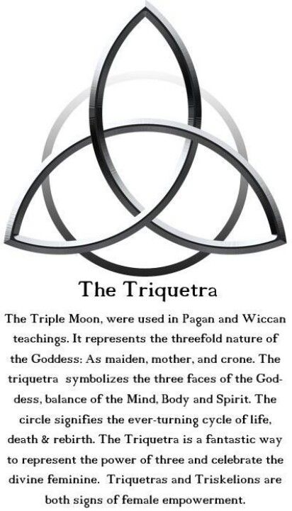 Wiccan Triquetra i have this as a tat on my shoulder right over my heart                                                                                                                                                                                 More