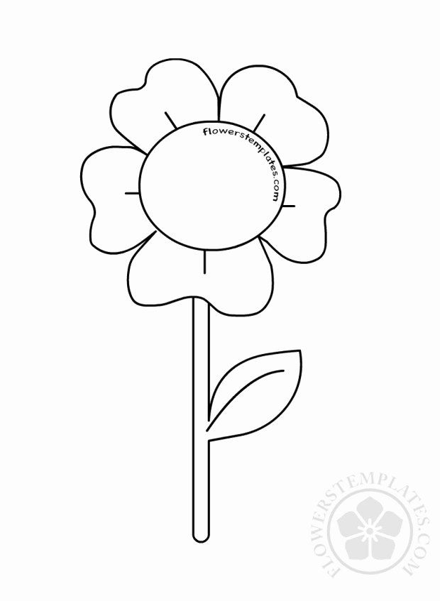 Flower Stem Coloring Page Fresh Flower Stem Leaves Nature Coloring Page Turtle Coloring Pages Parts Of A Flower Crayola Coloring Pages