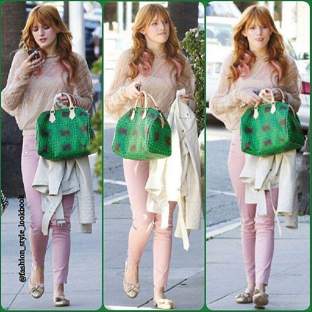 #bellathorne #redhair #pink #lookbook #style #lookbooknu #stylish #instastyle #fashion #fashionista #instafashion #love #ootd #shoes #hair #outfit #elegant #dainty #sunglasses #heels #miumiu #topshop #mango #zara #hermes #mint #neon #celebrity #streetstyle #streetfashion... - Celebrity Fashion