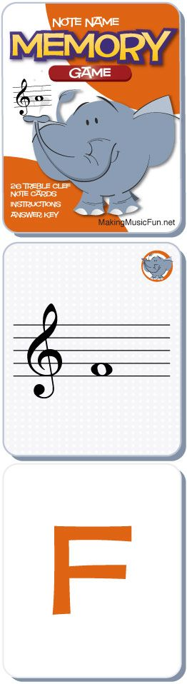 Memory Game | Free Printable Treble Clef Note Names Game #MusicTheory - http://makingmusicfun.net/htm/f_printit_lesson_resources/concentration-tc.htm