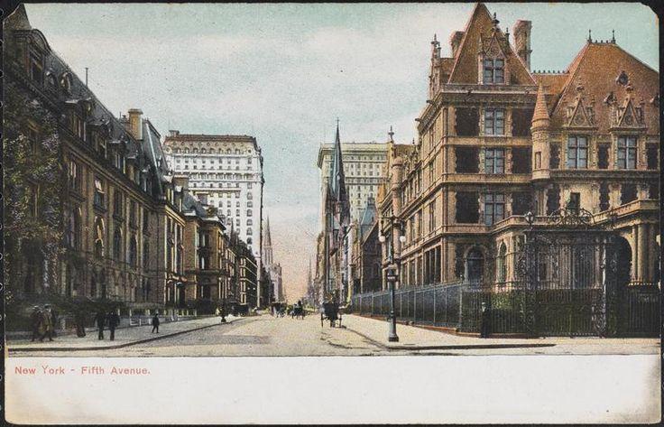 Fifth Avenue - Cornelius Vanderbilt House on right - Museum of the City of New York