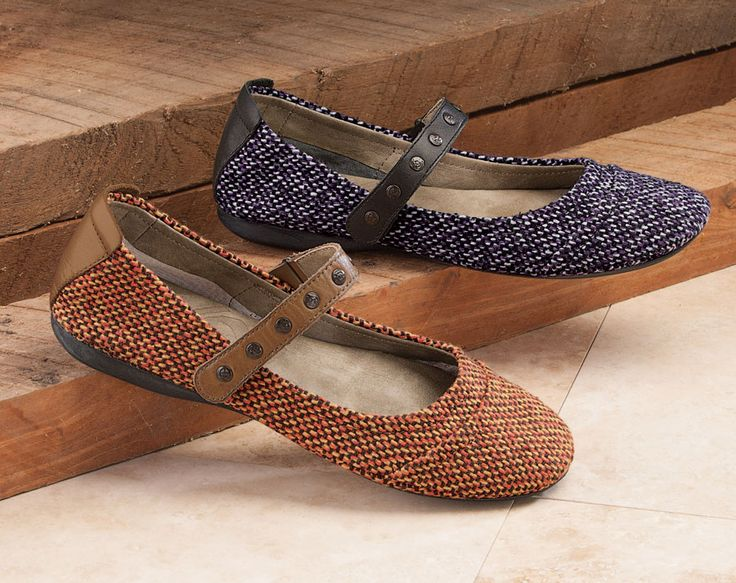OTBT Tweed Ballet Flats The most traditional of fabrics, rustic and  durable, tweed gets