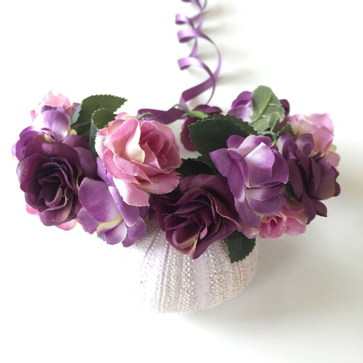 A personal favourite from my Etsy shop https://www.etsy.com/au/listing/462661641/flower-crown-purple-pink-amethyst-floral