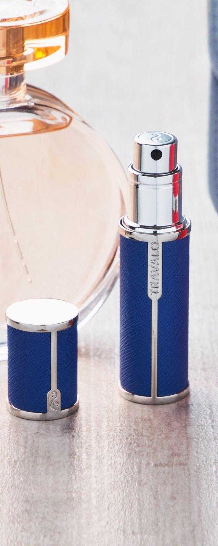 Pocket-sized, refillable travel perfume atomizer spray bottle via TheGrommet.com