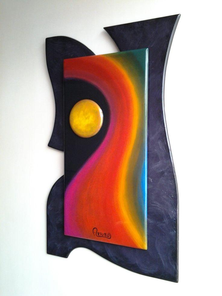 Cuadro 32 x 52 cm. Pintado sobre madera. A la Venta.   312 4962895 cromatempo@gmail.com