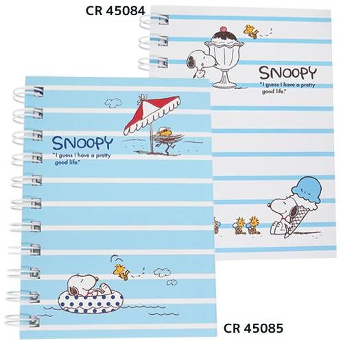 Snoopy blue stripes notebook